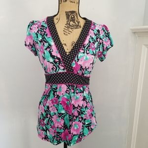 🔥3 for $25🔥 Med. Maurices floral polkadot